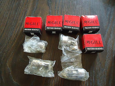 10 NEW McGILL PRECISION BEARINGS CF1 CAM FOLLOWER 5 W/BOX AND 5 WITHOUT THE BOX