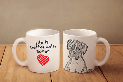 """Boxer - ein Becher """"Life is better with"""" Subli Dog, CH"""