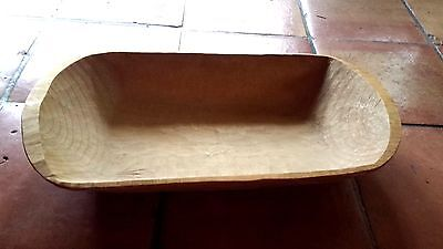 Vintage Solid Wood Dough Bowl Trencher