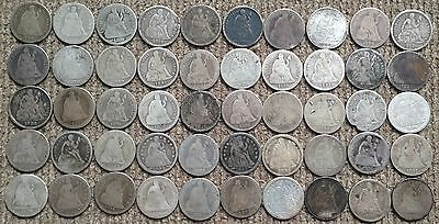 50 low grade Seated Liberty Dimes - Lot 5