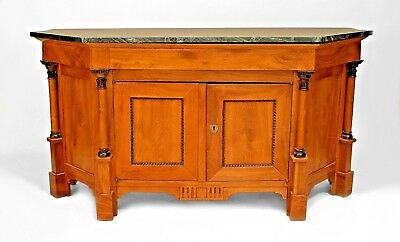 Italian Empire Neo-Classic (19th Cent.) Fruitwood Sideboard Cabinet