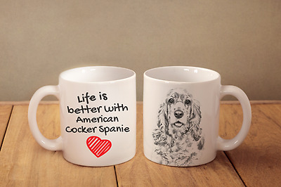 "American Cocker Spaniel - ein Becher ""Life is better with"" Subli Dog, CH"