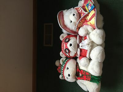 Vintage Hudson Santa Bears Lot Of 3