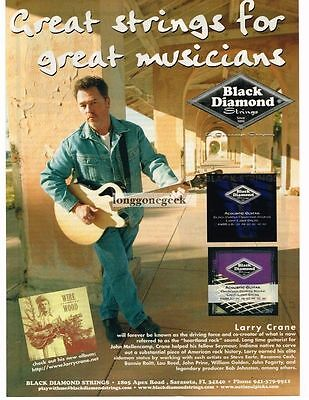 2003 BLACK DIAMOND guitar Strings LARRY CRANE Vtg Print Ad