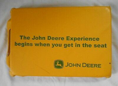John Deere Promo Yellow Vinyl Seat Stadium Cushion