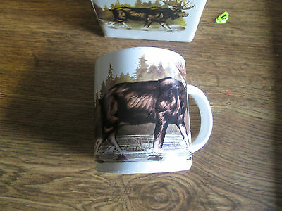Canadian Wildlife Moose Stoneware Collectible Coffee Mug With Original Box