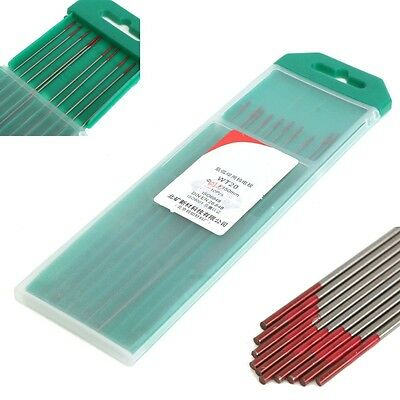 10pcs 2% Thoriated WT20 Red TIG Welding Tungsten Electrode 1.0mmx150mm Tool