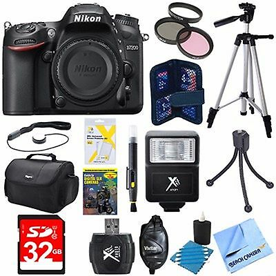 Nikon D7200 DX-Format 24.2MP Digital HD-SLR Body Deluxe Bundle