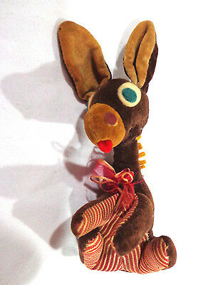 vintage 1950's hand made stuffed donkey,Fancy animals of japan