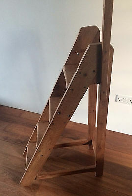 Antique Absolutely Unique Wooden Library 4 Step Ladder