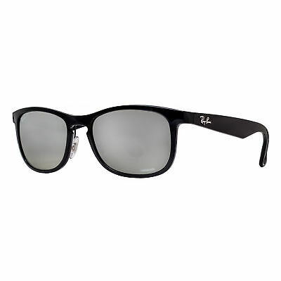 Ray Ban RB4263 601/5J Black Polarized Silver Mirror Chromance Square Sunglasses