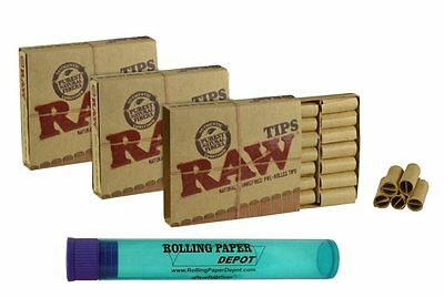 RAW Pre Rolled Tips with Rolling Paper Depot Kewltube