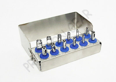 Dental Implant Tissue Punch Kit ,Terphine Drill and Guide Punch Mini Kits