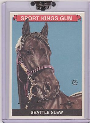 Awesome 2008 Sport Kings Seattle Slew Card #80 ~ Triple Crown Winning Horse ~Qty