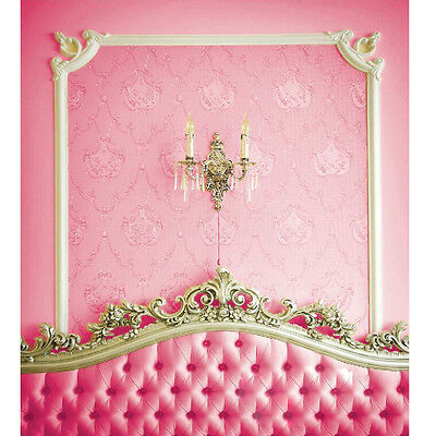 3x5FT European Pink Bed Photography Background Backdrop For Studio Photo Prop