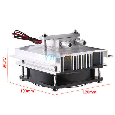 12V Peltier Thermoelectric Semiconductor Refrigeration Water Cooling Cooler Fan