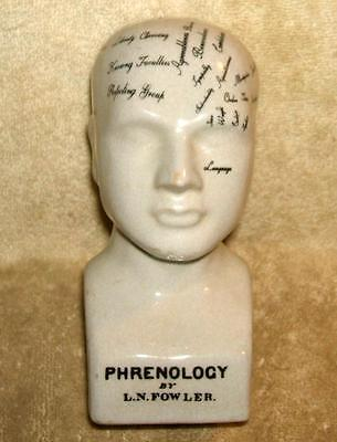 Early 1900's L. N. Fowler Phrenology Head