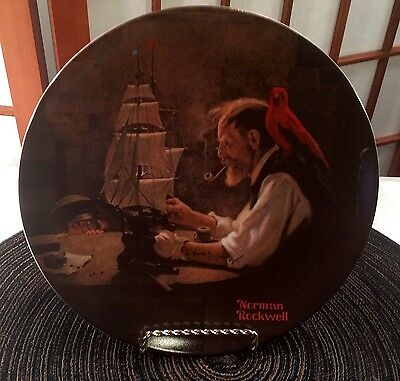 Knowles Norman Rockwell Ship Builder Collector Plate Heritage Collection 1980