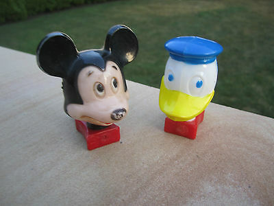 VINTAGE MICKEY MOUSE AND DONALD DUCK NITE LITE 1960s both work fine..