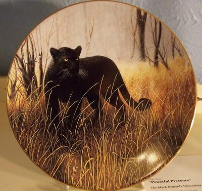 POWERFUL PRESENCE #4 MAGNIFICENT CATS BLACK LEOPARD C. FRACE Ltd Ed 1991 PLATE