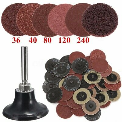 2' 36/40/80/120/240 # Sanding Roloc Discs Sand Tray Abrasive Pads For