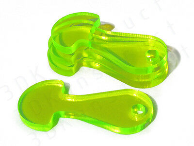 4 pcs Green Retractable Removable Shopping Trolley Coin Token Key