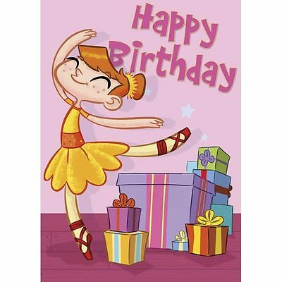 Ballet Happy Birthday Card Book * Includes Stickers Activities Games, Puzzles
