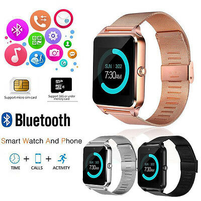 Bluetooth Z80 Smart Watch For Android Samsung iPhone iOS Camera SIM Pedometer CA