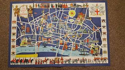 15 X 1950's PICTORIAL MAP OF LONDON - MARY SIMS -