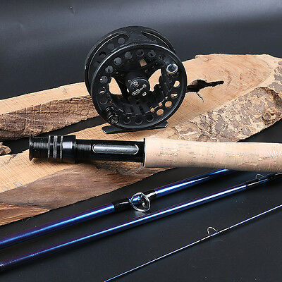Fly Fishing Rod and Reel Kits Carbon Fishing Rod and 5/6 Reel Fishing Gear Set