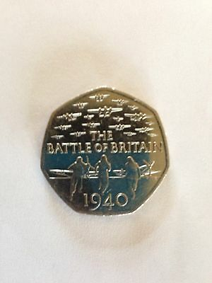 50p Fifty Pence Coin - Battle of Britain