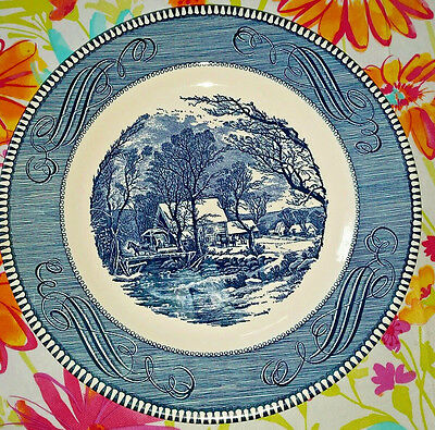 "Vintage Royal Currier & Ives ""The Old Grist Mill"" 10"" plate"
