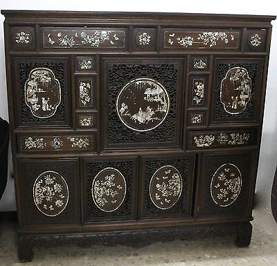 Philippine Furniture, Tropical Wood With Incrustations Of Nacar. Xix Century.
