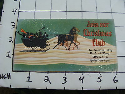 Original Vintage BLOTTER: 1924 Join our Christmas Club BANK OF TROY NY