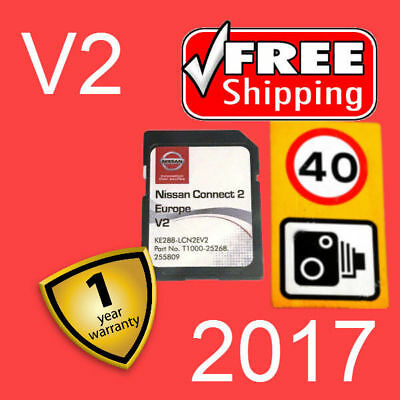 2017 V2 Nissan Connect 2 Sd Card Europe Maps Sat Nav Latest Version