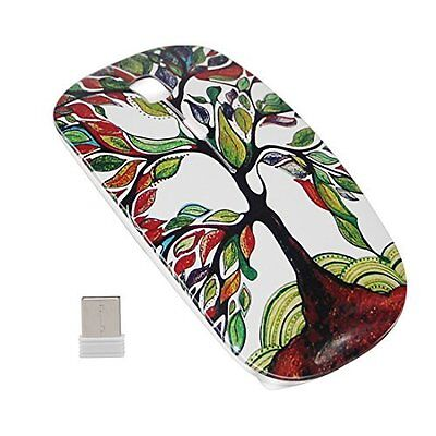 Wireless Rechargeable 2.4GHz Portable Mouse Ultra Thin & Quiet The Tree Of Life