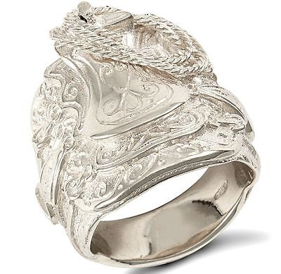 Sterling Silver Solid Gents Saddle Ring Many Sizes FREE POSTAGE Hallmarked 48 g