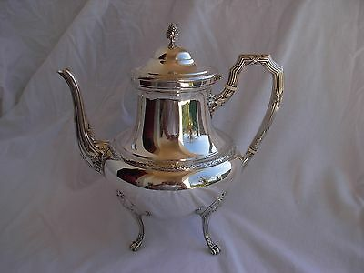 Antique French Sterling Silver Tea Pot,louis Xv Style,early Xx Century