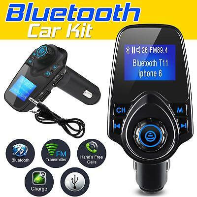 Wireless Bluetooth Car Kit MP3 Player FM Radio Transmitter USB Adapter Charger