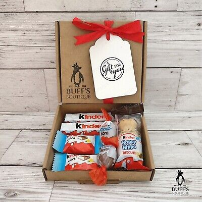 PETITE Kinder Chocolate Sweet Hamper Selection Mix Gift Box Present Personalised
