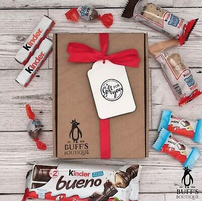 SMALL Kinder Chocolate Sweet Hamper Selection Mix Gift Box Present Personalised