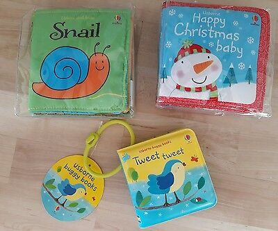 Brand New Usborne Baby Cloth and Buggy Books