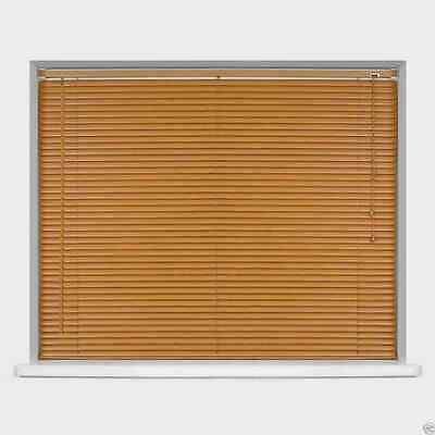 Wood Wooden Grain Effect PVC Venetian Blind Blinds Easy Fit, 10 Sizes