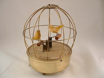 Vintage  Japanese  Birds In Cage On Mechical. Teeter-Totter  Seesaw Music box