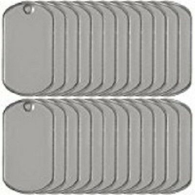 Wholesale / Lot Military Dog Tags Blank  Stainless Steel (MATTE/SHINY)
