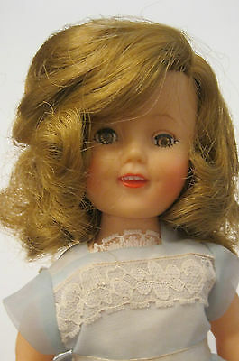 SHIRLEY TEMPLE ST-12 DOLL w/ ORIGINAL BLUE PARTY DRESS PANTIES & SHOES