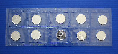 2006 CANADIAN TIMBER WOLF SILVER $1 Sheet of 10 Coins in original RCM mylar
