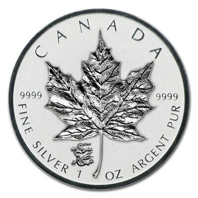 CANADA - 2012 Canadian $5 Maple Leaf with Dragon Privy (in air-tite)