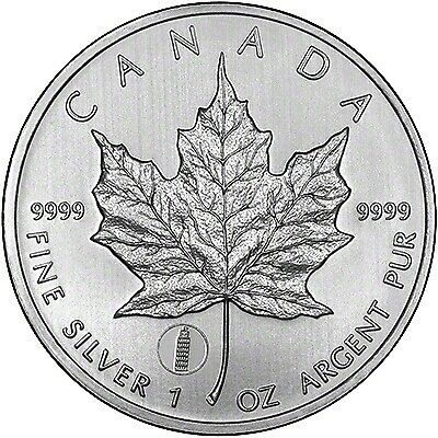 CANADA - 2012 1oz Silver Maple Leaf with Leaning Tower Privy (in air-tite)