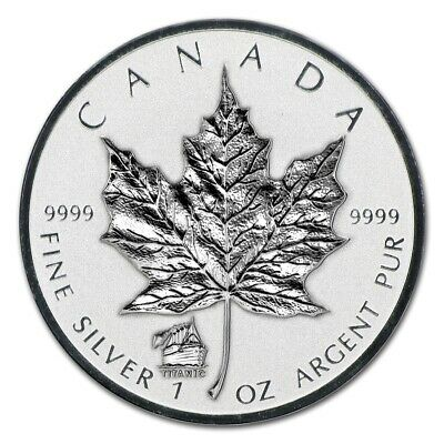 CANADA - 2012 1 oz Silver Maple Leaf with Titanic Privy (in air-tite)